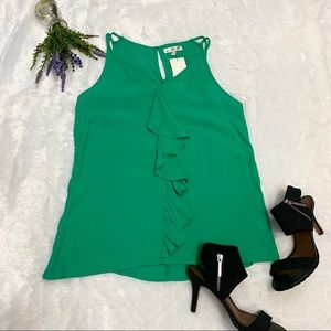 NEW Under Skies Ruffle Front Tank Top